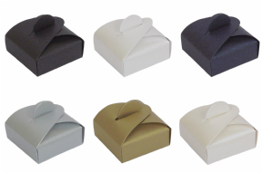 Pearlescent Chocolate Wedding / Party Favour Boxes - Choose Colour - Choose QTY